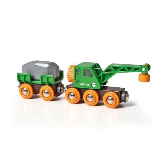 BRIO Clever Crane Wagon (33698)