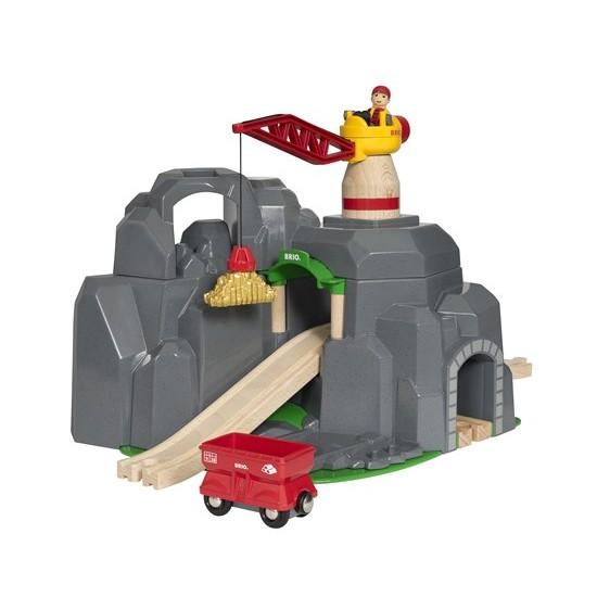 BRIO Crane & Mountain Tunnel (33889)