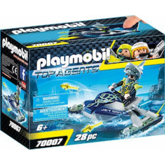 PLAYMOBIL 70007 Top Agents Team S.H.A.R.K. Rocket Rafter