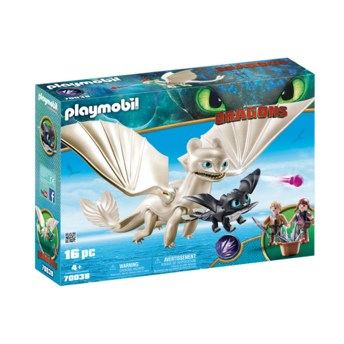 PLAYMOBIL 70038Light Fury with Baby Dragon and Children