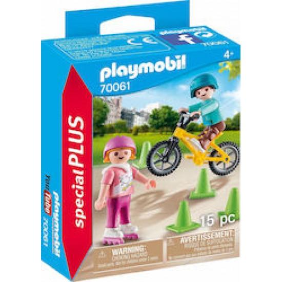 Playmobil 70061 Special Plus Παιδακια με Skates & BMX