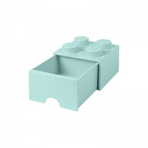 Room Copenhagen LEGO Brick Drawer 4 aqua blue - RC40051742