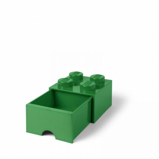 Room Copenhagen LEGO Brick Drawer 4 green - RC40051734