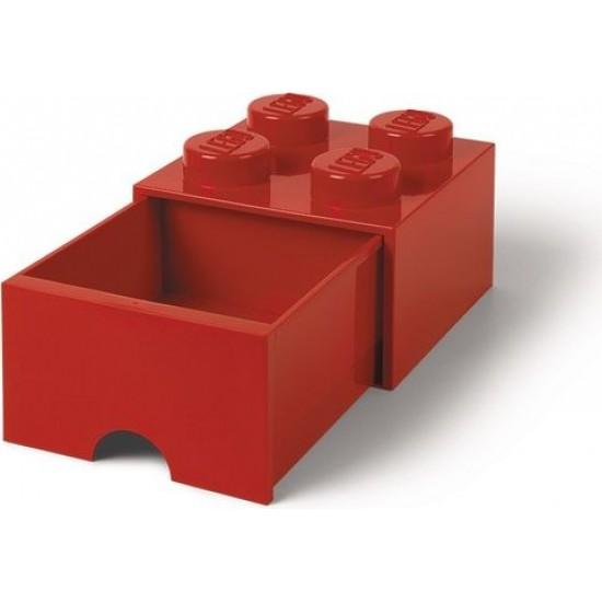 Room Copenhagen LEGO Brick Drawer 4 RC40051730 Red