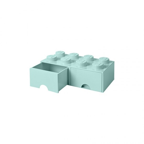 Room Copenhagen LEGO Brick Drawer 8 aquablue - RC40061742
