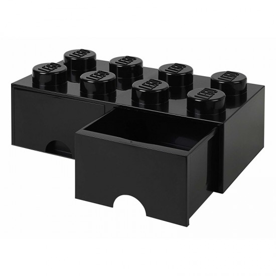 Room Copenhagen LEGO Brick Drawer 8 black - RC40061733