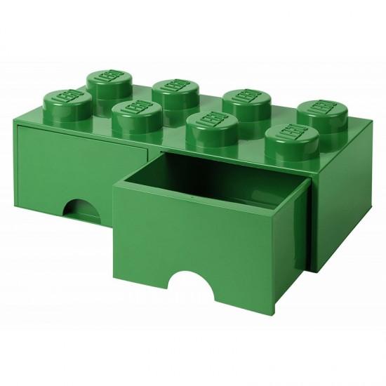 Room Copenhagen LEGO Brick Drawer 8 green - RC40061734