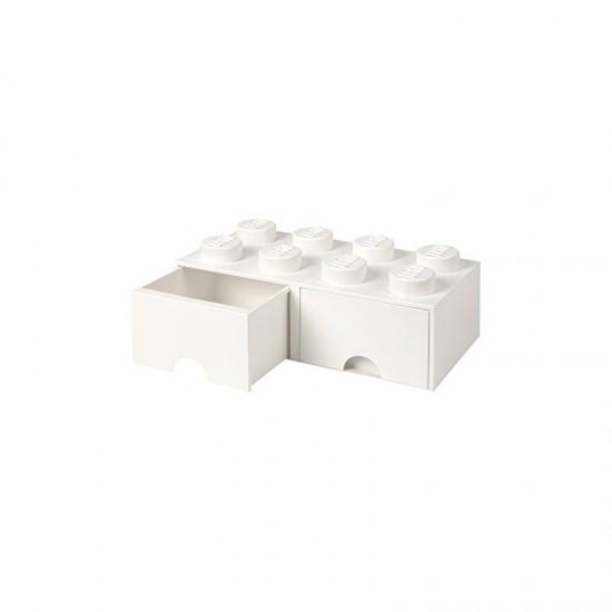 Room Copenhagen LEGO Brick Drawer 8 white - RC40061735