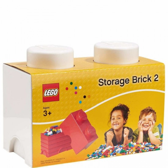 Room Copenhagen LEGO Storage Brick 2 white - RC40021735