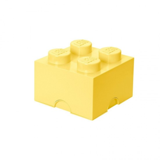 Room Copenhagen LEGO Storage Brick 4 pastel yellow - RC40031741