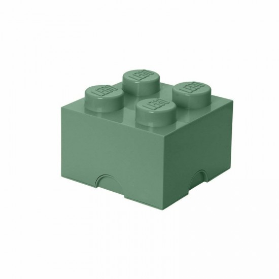 Room Copenhagen LEGO Storage Brick 4 sand green - RC40031747