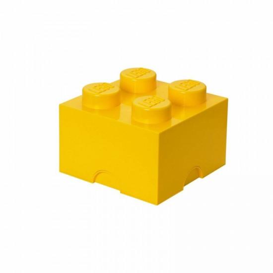 Room Copenhagen LEGO Storage Brick 4 yellow - RC40031732