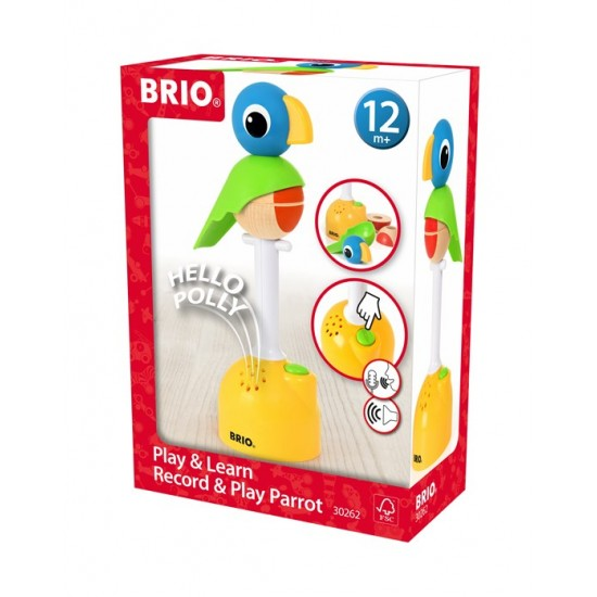 BRIO WORLD Play & Learn, Record & Play Parrot(30262)