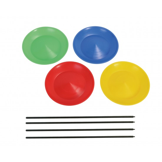 HUDORA juggling plate with bars, 4 pieces, 75053