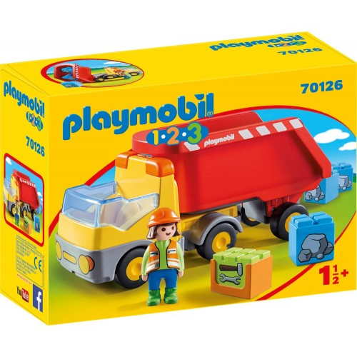 PLAYMOBIL 1.2.3: Dump Truck (70126)