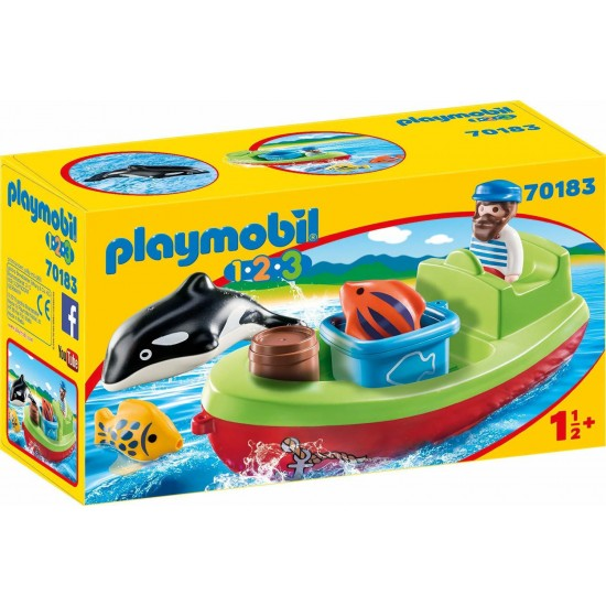 Playmobil 1-2-3- Fisherman With Boat 70183