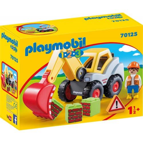 PLAYMOBIL 1.2.3: Shovel Excavator (70125)