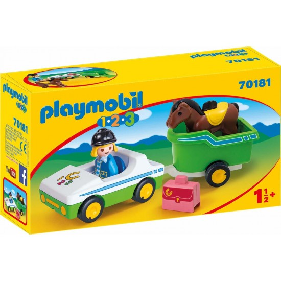 Playmobil 123 Car With Horse Trailer 70181