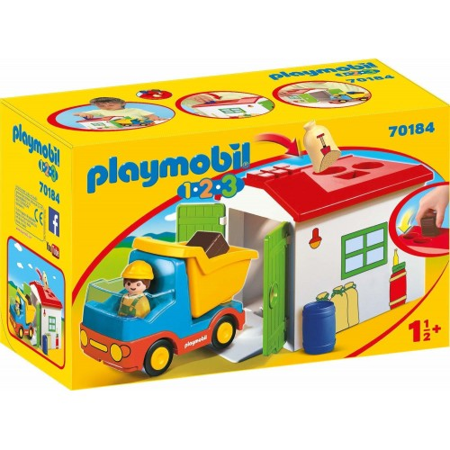 Playmobil 123 Truck With Sorting Garage 70184