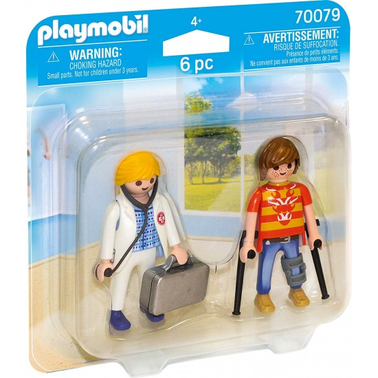 Playmobil 70079 Duo Pack for Doctors and Patients Colourful