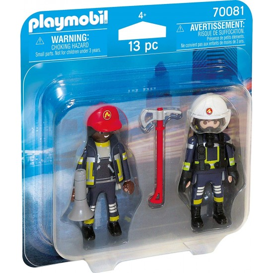 Playmobil 70081 Duo Pack Fireman and Woman Colourful
