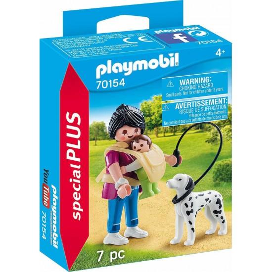 PLAYMOBIL 70154 Μαμα με μωρο και σκυλο Special Plus