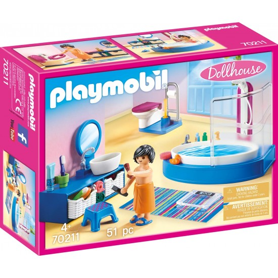 PLAYMOBIL: Bathroom with Tub (70211)