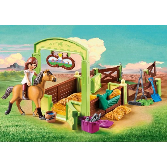 "Playmobil : Horsebox ""Lucky and Spirit"" (9478)"