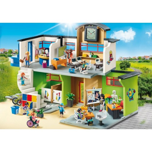 Playmobil : Large School with Furnishings (9453)