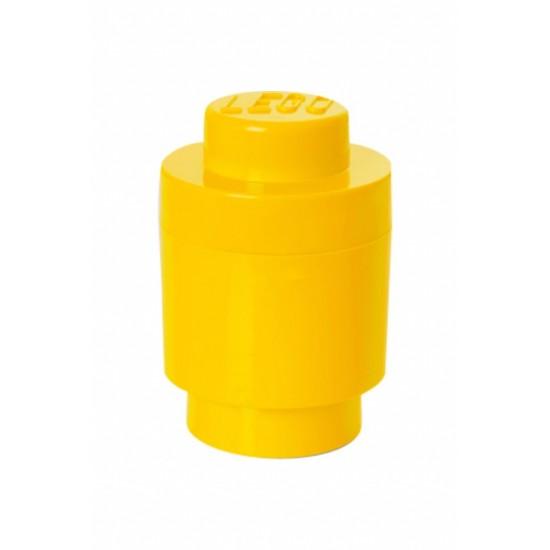 Room Copenhagen LEGO Storage Brick 1 round yellow - RC40301732