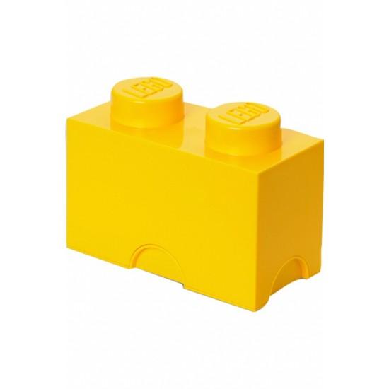 Room Copenhagen LEGO Storage Brick 2 yellow - RC40021732