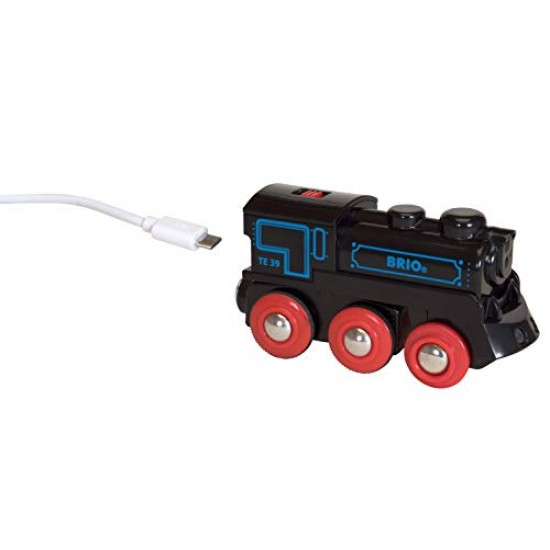 BRIO Rechargeable Engine 4WD, black/red (59900)