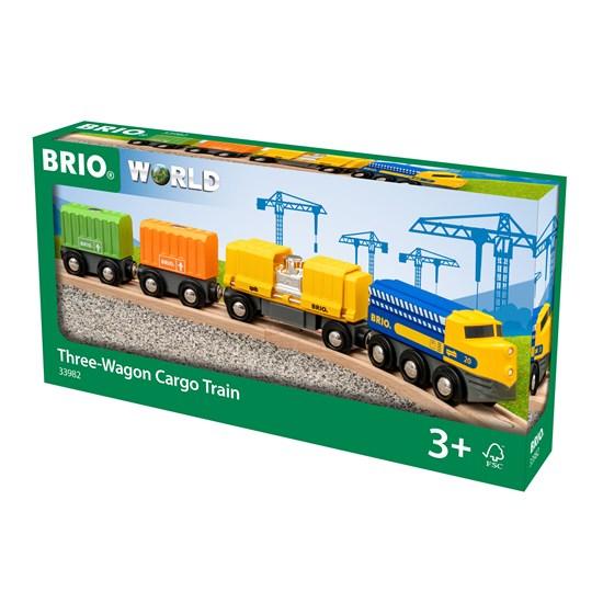 BRIO Three-Wagon Cargo Train(33982)