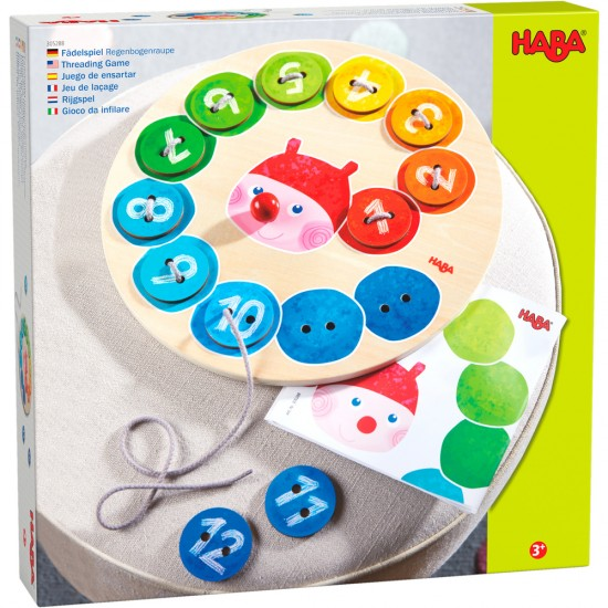 HABA Threading Game Rainbow Caterpillar (305288)