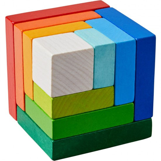 HABA 3D Arranging Game Rainbow Cube (305460)