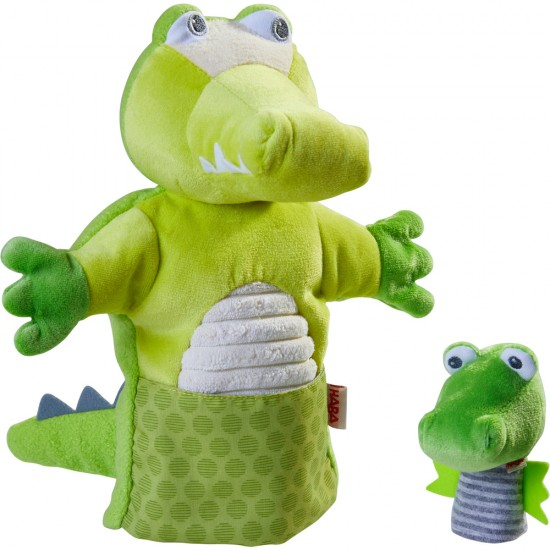HABA Puppet Crocodile with Hatchling (305754)