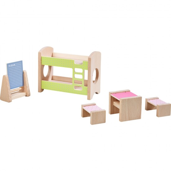HABA Little Friends – Dollhouse Furniture Children's Room for Two (303836)