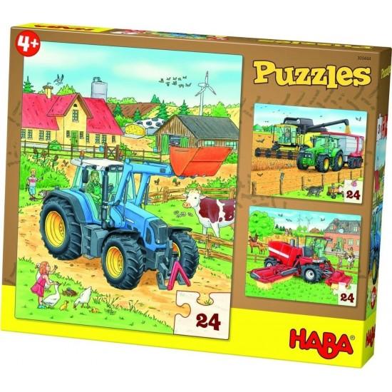 HABA Tractor & Co 3x24pcs (300444)