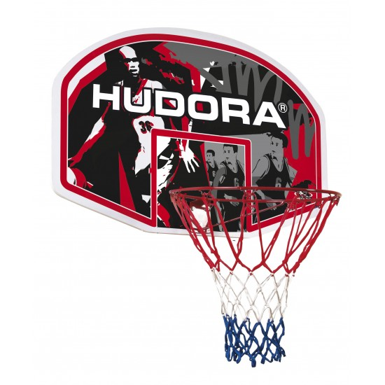 HUDORA In-/Outdoor basketball hoop, Basketball Basket(red/black, Boy/Girl, 900 mm, 600 mm, 4 kg)(71621)