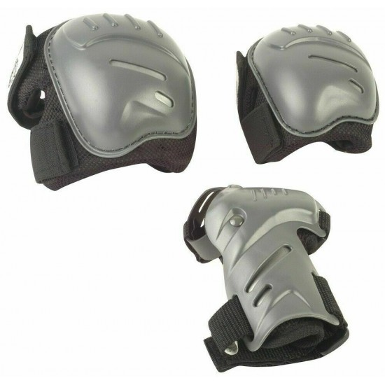 HUDORA  6 Pieces Set of Bike Knee Elbow Pads Wrist Safety Guards Protection (83030)