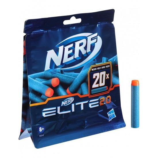 Hasbro Nerf Elite 2.0 20Er Dart Refill Pack - Περιέχει 20 Darts Nerf Elite 2.0 (F0040)