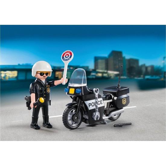 Playmobil CITY ACTION Βαλιτσάκι Αστυνόμος με μοτοσικλέτα (5648)
