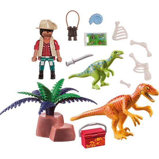 Playmobil DINOS Maxi Βαλιτσάκι Εξερευνητής και δεινόσαυροι (70108)