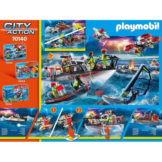 Playmobil City Action Fire Rescue with Personal Watercraft (70140)