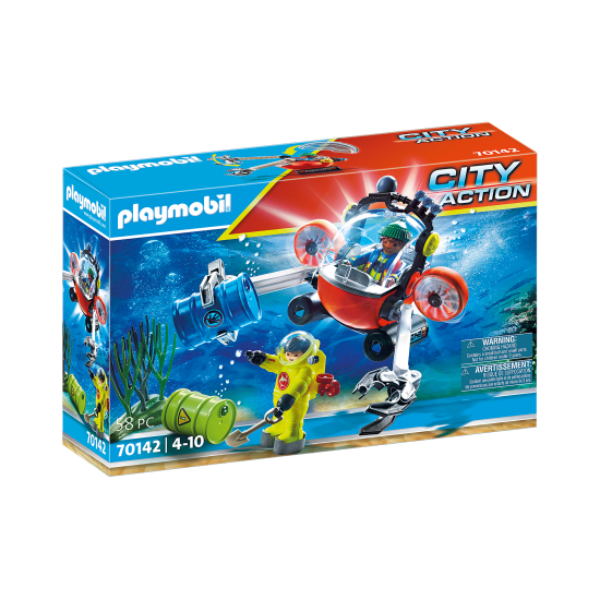 Playmobil City Action Environmental Expedition with Dive Boat (70142)