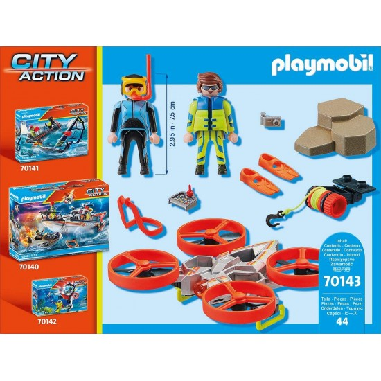 Playmobil City Action Diver Rescue with Drone (70143)