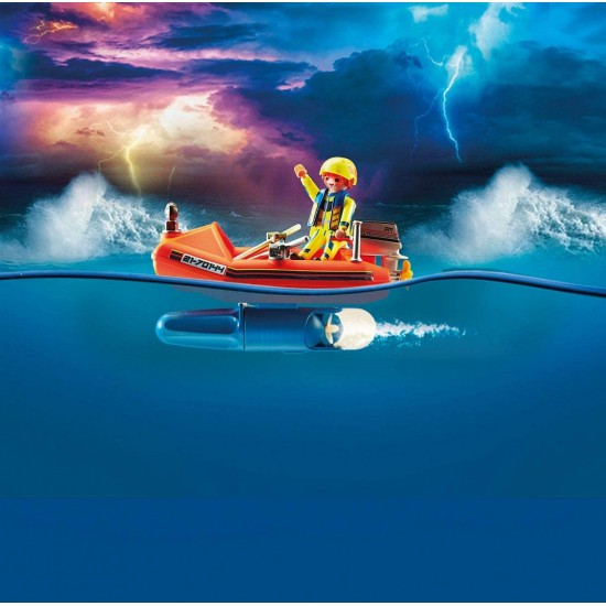 Playmobil City Action Kitesurfer Rescue with Speedboat (70144)