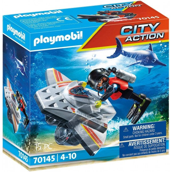 Playmobil City Action Diving Scooter (70145)