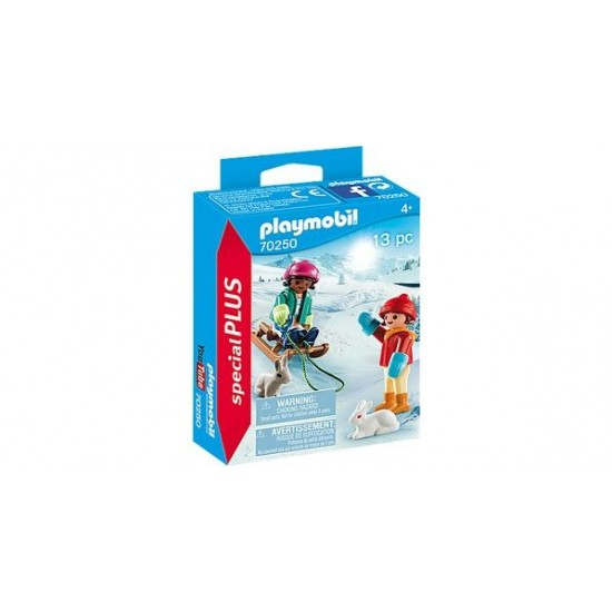Playmobil Special Plus Children With Sled 70250