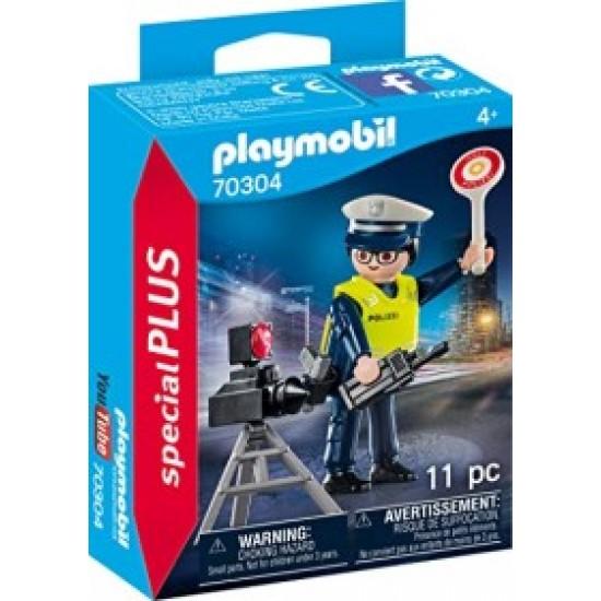 Playmobil  Αστυνομικός με παγίδα ταχύτητας 70304
